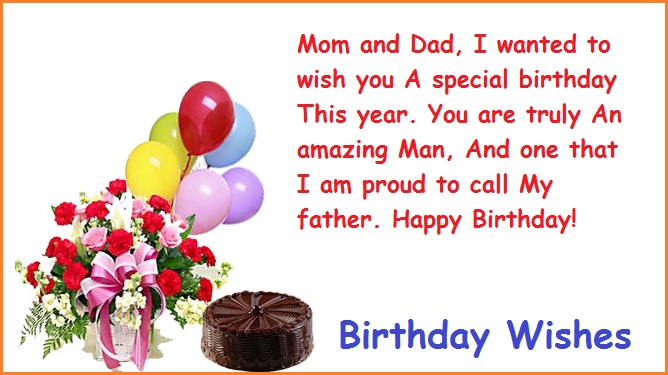 Happy Birthday Wishes for Parents