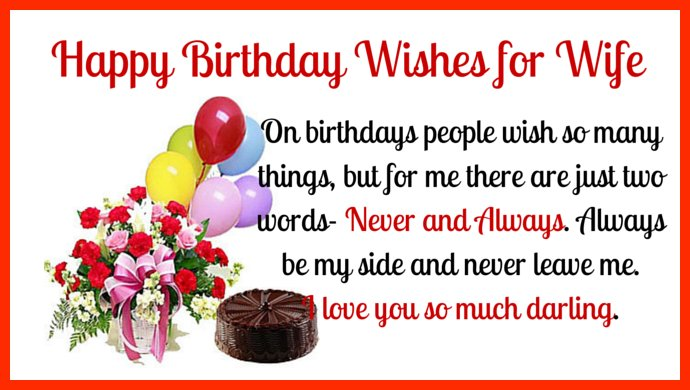Image gallery happy birthday wife messages