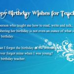 Happy Birthday Sms for Teacher